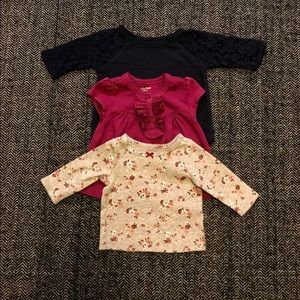 Other - This trio of T-shirt's size 0-3m